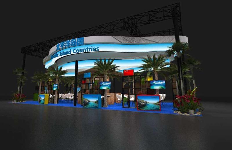 太平洋岛国-18年CIIE展台案例-太平洋岛国-136m²
